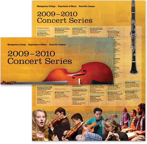 Montgomery College's Department of Music concert series brochure