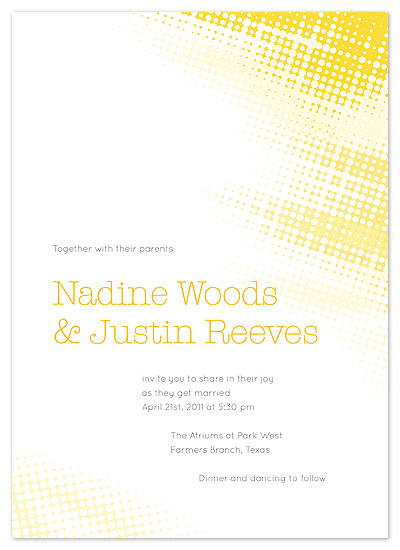 Shining Light wedding invitation