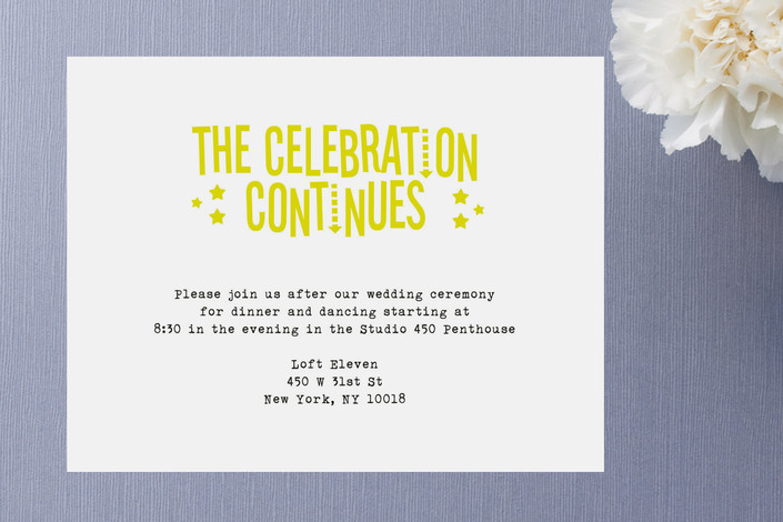 After Wedding Invitation Wording: Afterparty Wedding Invitations