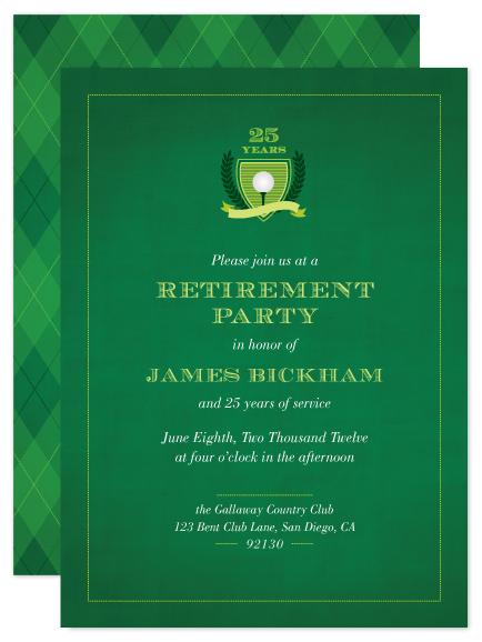 golf themed invitations ringleader paper co