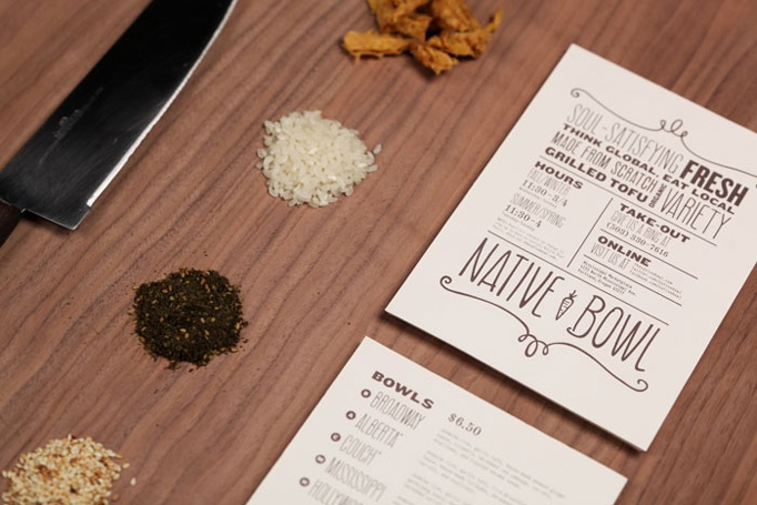 inspiration native bowl menu design ringleader paper co